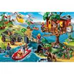 Puzzle  Schmidt-Spiele-56164 Playmobil, La Maison dans l'Arbre, avec une Figurine