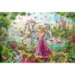 Puzzle  Schmidt-Spiele-56197 La Belle Fée dans la Forêt Enchantée