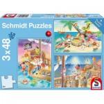 Schmidt-Spiele-56223 3 Puzzles - Pirates