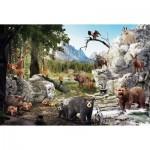Puzzle  Schmidt-Spiele-56239 Animaux de la Forêt