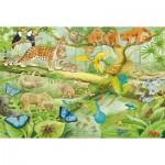 Puzzle  Schmidt-Spiele-56250 Animaux dans la forêt tropicale