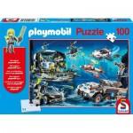 Puzzle  Schmidt-Spiele-56272 Playmobil - Top Agents
