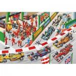 Puzzle  Schmidt-Spiele-56288 Que se passe-t-il à la course automobile?