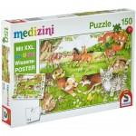Puzzle  Schmidt-Spiele-56290 So leben Tierkinder (en Allemand)