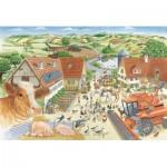 Puzzle  Schmidt-Spiele-56291 Entdecke den Bauernhof (en Allemand)