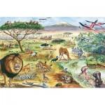 Puzzle  Schmidt-Spiele-56292 Tiere in Ostafrika (en Allemand)