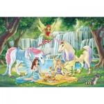Puzzle  Schmidt-Spiele-56304 Pique-nique des Elfes