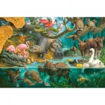 Puzzle  Schmidt-Spiele-56306 Familles d'Animaux sur le Rivage