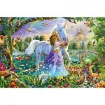 Puzzle  Schmidt-Spiele-56307 Princesse avec sa Licorne