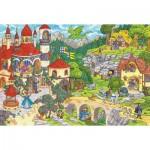 Puzzle  Schmidt-Spiele-56311 Au Pays des Contes