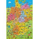 Puzzle  Schmidt-Spiele-56312 Carte de l'Allemagne avec Images