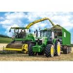 Puzzle  Schmidt-Spiele-56315 John Deere - Tracteur