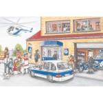 Puzzle  Schmidt-Spiele-56351 Hélicoptère de Police