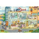 Puzzle  Schmidt-Spiele-56374 A l'Hopital des Enfants