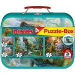 Schmidt-Spiele-56495 4 Puzzles - Dinosaures