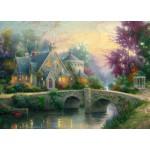 Puzzle  Schmidt-Spiele-57463 Thomas Kinkade : Crépuscule