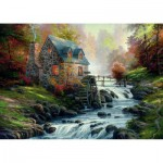 Puzzle  Schmidt-Spiele-57486 Thomas Kinkade : Au vieux moulin