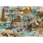 Puzzle  Schmidt-Spiele-58205 L'Europe en Ballon