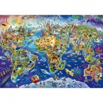 Puzzle  Schmidt-Spiele-58288 Découvrez notre Monde