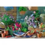 Puzzle  Schmidt-Spiele-58313 La Table du Jardin