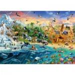 Puzzle  Schmidt-Spiele-58324 Le Monde des Animaux