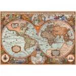 Puzzle  Schmidt-Spiele-58328 Vieille Carte du Monde