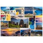 Puzzle  Schmidt-Spiele-58338 Passez des vacances en ... Grèce