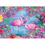 Puzzle  Schmidt-Spiele-58342 Flamants Roses