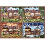 Puzzle  Schmidt-Spiele-58345 Maison aux Différentes Saisons