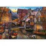 Puzzle  Schmidt-Spiele-58355 Maison sur le Canal