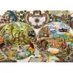 Puzzle  Schmidt-Spiele-58362 Carte du Monde Exotique