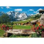 Puzzle  Schmidt-Spiele-58368 Vue sur l'Idylle de la Montagne