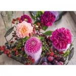 Puzzle  Schmidt-Spiele-58369 Baies et Fleurs