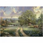 Puzzle  Schmidt-Spiele-58461 Thomas Kinkade : Résidence champêtre