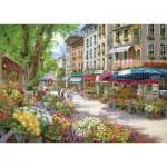 Puzzle  Schmidt-Spiele-58561 Sam Park : Paris, le marché aux fleurs