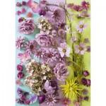 Puzzle  Schmidt-Spiele-58944 Fleurs Violettes