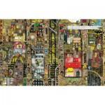 Puzzle  Schmidt-Spiele-59355 Colin Thompson: Paysage Urbain Fantastique