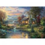 Puzzle  Schmidt-Spiele-59467 Thomas Kinkade, Paradis Naturel