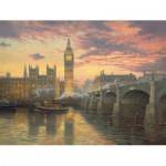 Puzzle  Schmidt-Spiele-59471 Kinkade Thomas : Soirée à Londres