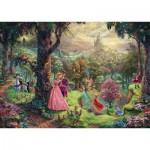 Puzzle  Schmidt-Spiele-59474 Thomas Kinkade - Disney, La Belle au Bois Dormant