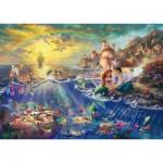 Puzzle  Schmidt-Spiele-59479 Thomas Kinkade - Ariel La Petite Sirène