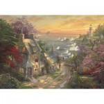 Puzzle  Schmidt-Spiele-59482 Thomas Kinkade - Le Cottage et le Phare