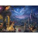 Puzzle  Schmidt-Spiele-59484 Thomas Kinkade - Disney, La Belle et la Bête