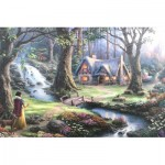 Puzzle  Schmidt-Spiele-59485 Thomas Kinkade - Disney, Blanche Neige