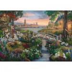 Puzzle  Schmidt-Spiele-59489 Thomas Kinkade, Disney, les 101 Dalmatiens