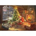 Puzzle  Schmidt-Spiele-59495 Thomas Kinkade - Le Père Noël est là!