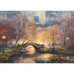 Puzzle  Schmidt-Spiele-59496 Thomas Kinkade - Central Park en Automne