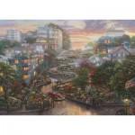 Puzzle  Schmidt-Spiele-59497 Thomas Kinkade - San Francisco, Lombard Street II