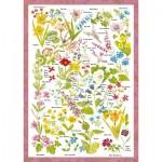 Puzzle  Schmidt-Spiele-59566 Countryside Art - Fleurs Sauvages
