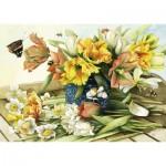 Puzzle  Schmidt-Spiele-59573 Fleurs de Printemps